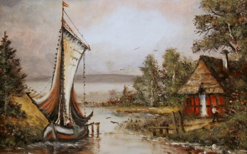 Balatoni halászhajó, 50×40