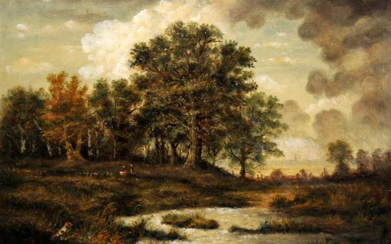 Tölgyfa patakkal, 50×40, 80.000.-