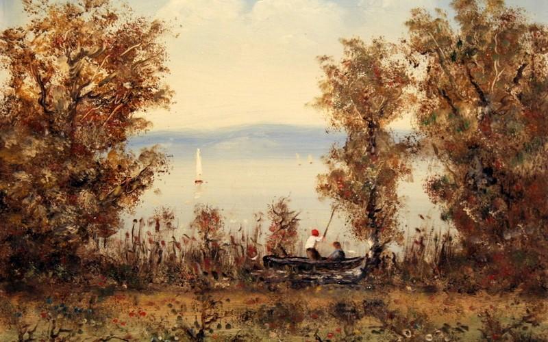 Balatoni horgászat, 50×40, 55.000.-