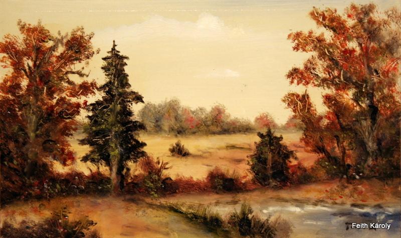 Őszi erdő, 44×26, 35.000.-