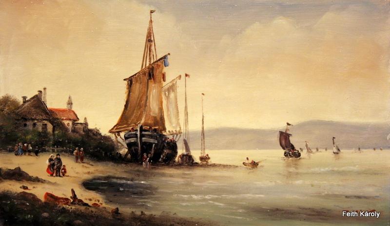 Apály a tengernél, 50×30, 55.000.-