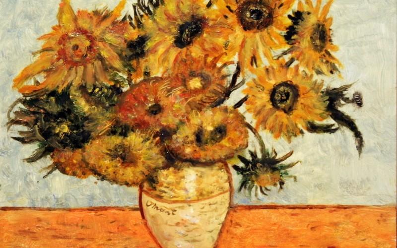 Vincent Napraforgók, 40×30, 55.000.-
