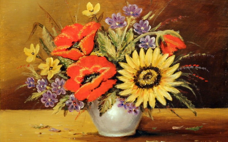 Vadvirágok, 40×30, 49.000.-