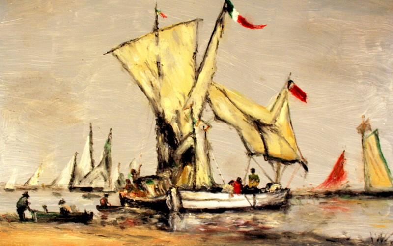 Halászhajók, 40×30